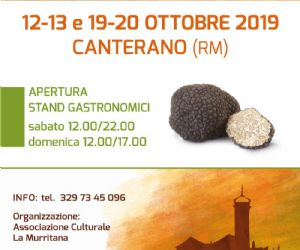 Locandina: VIII Sagra del Tartufo a Canterano
