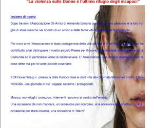 Locandina: Per la giornata nazionale contro il femminicidio