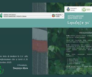 Locandina: Intitolazione sentiero 323 Laudato si'