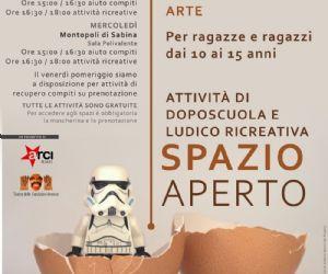 """Locandina: Arriva """"Spazio aperto"""""""