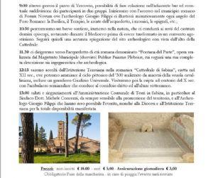 Locandina: Vescovio, connubio di storia, arte e religione